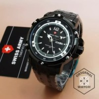 Jam Tangan Pria ORIGINAL Swiss Army Chain 1 Year Guaranted