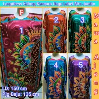 Longdress Kalong Kencana Ungu BIRU Super Jumbo, Daster Batik Jumbo II