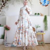 Dress basic rayon Twill flower