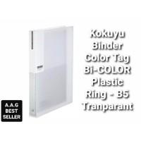 KOKUYO BINDER COLOR TAG BI-COLOR PLASTIC RING-B5 TRASNPARANT