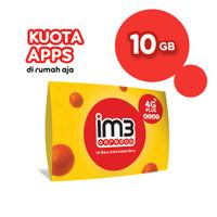 IM3 OOREDOO STARTER PACK - KUOTA APPS DIRUMAH AJA 10GB / 7 HARI