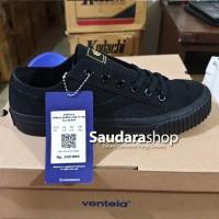 Sepatu Ventela Public Suede Low Allblack / Public Suede Allblack Low