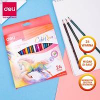 DELI - EC00320 / Pensil Warna Anak Isi 24 PCS / Peralatan Sekolah - 12COLOR EC00300