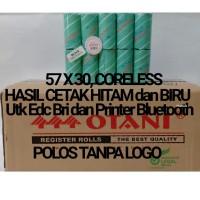 Kertas Thermal Merk Otani 57x30,Coreless Harga Perdus - Hitam