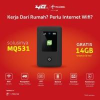 Modem Mifi Wifi 4G MQ531 UNLOCK ALL GSM Free Kartu Telkomsel Kuota14Gb