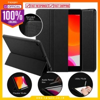 Case iPad 7 10.2 Inch Spigen Urban Fit Fabric Flip Cover Casing