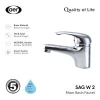 AER Kran Wastafel Panas DinginKeran Air /Hot Cold Basin Faucet SAG W2