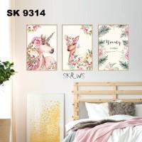 RD SK9314 BEAUTY PEGASUS FRAME 60X90 WALLSTICKER WAL STIKER DINDING