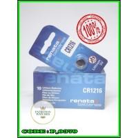 Original Baterai kancing Batere battery Batrei Renata CR1216 CR 1216
