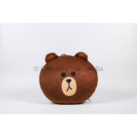Boneka Bantal Brown Line Cokelat | Lucu Cute Doll Premium Quality