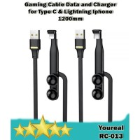 Remax Youreal RC-013 Cabel Data Gamer Type C & Lightning Iphone -120cm