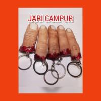 souvenir gantungan kunci jari mutilasi campur kumplit termurah