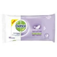 Dettol Sensitive Wet Tissue Antiseptic Isi 10 Anti Virus Tisu Basah
