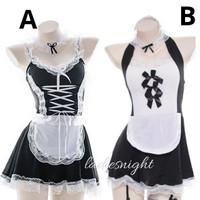 Black-White Ichika Maid Sexy Lingerie Costume (Pelayan) -Bandana +Acc