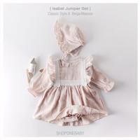 Dress Jumpsuit Set Bow Pakaian Baju Bayi Baju Pita Baby Jumper ISABEL