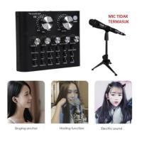 Sound card V8s Mixer Audio USB External Ada Bluetooth Live Streaming