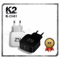 [GROSIR] CHARGER K2 PREMIUM QUALITY QUALCOMM 3.0Ampere FAST CHARGING