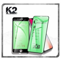 TEMPERED GLASS [CERAMICS] WARNA K2 Premium Quality Full Layar IPHONE