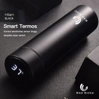 HAN RIVER Botol Minum/Termos/Tumblr dengan LED Suhu 500ML - Hitam