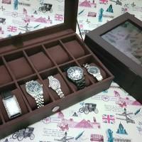[EXPORT QUALITY]- Kotak jam tangan isi 12 all color paling murah