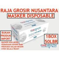 Masker NonMedis 3PLY ONEHEALTH 1box50pcs Masker 3ply masker disposable