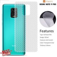 Redmi Note 9 Note 9 Pro Skin Carbon Anti Gores Belakang Garskin