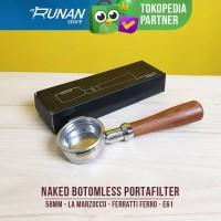 Naked Bottomless Portafilter 58mm La Marzocco Ferratti Ferro E61