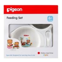 Pigeon Feeding Set Mini Peralatan Makan Bayi 6m+