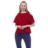 Oriana Blouse Red