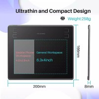 Huion HST640 / HS64 Graphic Drawing Pen Tablet Android PC alt H420p