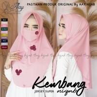 Hijab Masker Instan/Kerudung Masker/Niqob kembang/Bergo Niqab