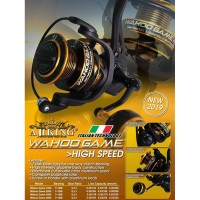Reel Pancing Ajiking Wahoo Game 1000 - Screw In Power Handle