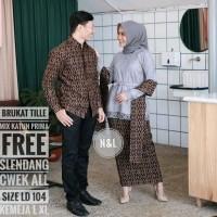 Batik Couple Murah Kebaya Gamis Brukat Mutiara Modern Venita