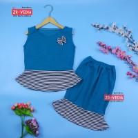 Setelan Zizi Anak uk 3-4 Tahun / Atasan Bawahan Rok Perempuan Set Baju