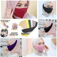 masker hijab bahan scuba