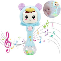 Rattle Stick Baby Molar Kerincingan Musik Lampu Bayi