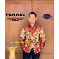 Kemeja Batik Pria Dewasa Eksklusif FAWWAZ Lengan Panjang By Raja Sakti - M