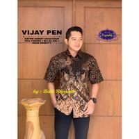 Vijay Kemeja Batik Pria Lengan Pendek Atasan Batik By Raja Sakti