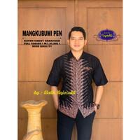 Kemeja Batik Pria Dewasa MANGKUBUMI Lengan Pendek By RAJA SAKTI