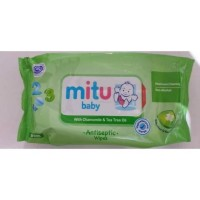 Mitu Baby With Chamomile & Tea Tree Oil Antiseptic Wipes (50 Sheets)