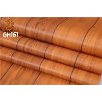 Home Wallpaper Sticker Dinding Kayu Garis Tua - 45cm x 10 m