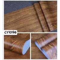 Home Wallpaper Sticker Dinding Kayu Polos Tua - 45cm x 10 m