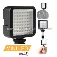 Video Lighting LED Mini 49 LED Fotografi Camera Smartphone Vloging