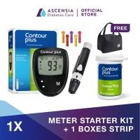 Contour Plus Alat Test Gula Darah + 25 Strip FREE Cooler Bag