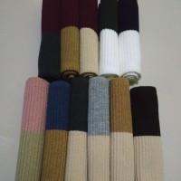 bandana rajut 2 warna premium / inner /ciput /iket