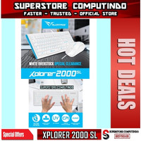 Alcatroz Xplorer 2000SL Keyboard Mouse Combo - White - Best Buy