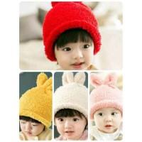 TP35 topi bulu anak kupluk bayi balita toddler cap hat laki perempuan