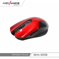 Mouse Gaming Wireless Advance Optical Sensor 2.4Ghz Auto On Off