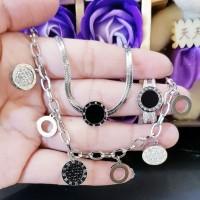 titanium set perhiasan wanita 24b16