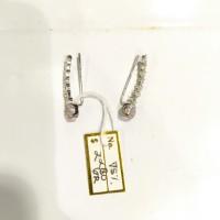 Anting Fashion Tusuk Selip Emas Putih 750